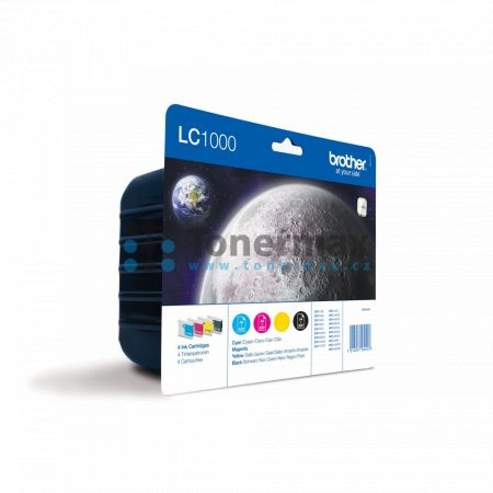 Brother LC-1000 Value Pack, LC1000 (LC1000VALBP), originální cartridge pro tiskárny Brother DCP-130C, DCP-330C, DCP-350C, DCP-353C, DCP-357C, DCP-540CN, DCP-560CN, DCP-750CW, DCP-770CW, MFC-240C, MFC-440CN, MFC-465CN, MFC-660CN, MFC-680CN, MFC-845CW, MFC-