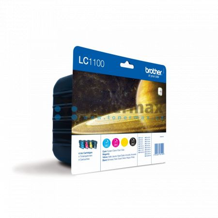 Brother LC-1100 Value Pack, LC1100 (LC1100VALBP), originální cartridge pro tiskárny Brother DCP-185C, DCP-383C, DCP-385C, DCP-387C, DCP-395CN, DCP-585CW, DCP-6690CW, DCP-J715W, MFC-490CW, MFC-790CW, MFC-795CW, MFC-990CW, MFC-5490CN, MFC-5890CN, MFC-5895CW