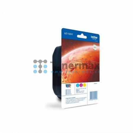 Brother LC-1100HY Rainbow Pack, LC1100HY (LC1100HYRBWBP), originální cartridge pro tiskárny Brother DCP-6690CW, MFC-5890CN, MFC-5895CW, MFC-6490CW, MFC-6890CDW
