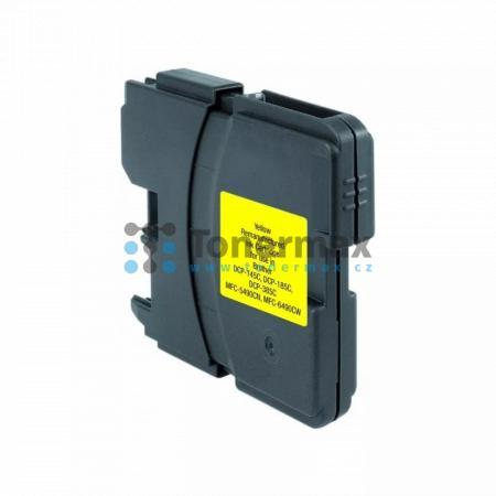 Brother LC-1100Y, LC1100Y, kompatibilní cartridge pro tiskárny Brother DCP-185C, DCP-383C, DCP-385C, DCP-387C, DCP-395CN, DCP-585CW, DCP-6690CW, DCP-J715W, MFC-490CW, MFC-790CW, MFC-795CW, MFC-990CW, MFC-5490CN, MFC-5890CN, MFC-5895CW, MFC-6490CW, MFC-689
