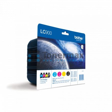 Brother LC-900 Value Pack, LC900 (LC900VALBP), originální cartridge pro tiskárny Brother DCP-110C, DCP-115C, DCP-117C, DCP-120C, DCP-310CN, DCP-315CN, DCP-340CW, FAX-1835C, FAX-1840C, FAX-1940CN, FAX-2440C, MFC-210C, MFC-215C, MFC-410CN, MFC-425CN, MFC-62