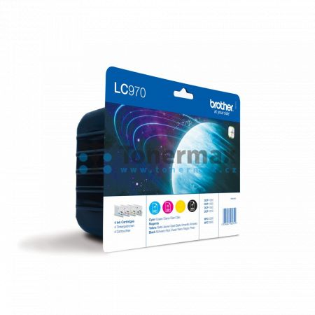 Brother LC-970 Value Pack, LC970 (LC970VALBP), originální cartridge pro tiskárny Brother DCP-135C, DCP-150C, DCP-153C, MFC-235C, MFC-260C