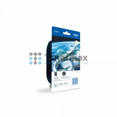 Brother LC-985BK, LC985BK, originální cartridge pro tiskárny Brother DCP-J125, DCP-J140W, DCP-J315W, DCP-J515W, MFC-J220, MFC-J265W, MFC-J410, MFC-J415W