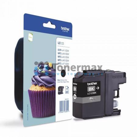 Brother LC123BK (LC123), originální cartridge pro tiskárny Brother DCP-J132W, DCP-J152W, DCP-J172W, DCP-J552DW, DCP-J752DW, DCP-J4110DW, MFC-J245, MFC-J470DW, MFC-J650DW, MFC-J870DW, MFC-J4410DW, MFC-J4510DW, MFC-J4610DW, MFC-J4710DW, MFC-J6520DW, MFC-J67
