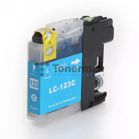 Brother LC123C (LC123), kompatibilní cartridge pro tiskárny Brother DCP-J132W, DCP-J152W, DCP-J172W, DCP-J552DW, DCP-J752DW, DCP-J4110DW, MFC-J245, MFC-J470DW, MFC-J650DW, MFC-J870DW, MFC-J4410DW, MFC-J4510DW, MFC-J4610DW, MFC-J4710DW, MFC-J6520DW, MFC-J6