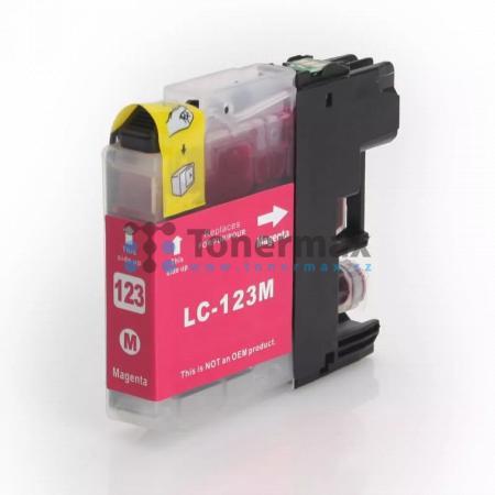 Brother LC123M (LC123), kompatibilní cartridge pro tiskárny Brother DCP-J132W, DCP-J152W, DCP-J172W, DCP-J552DW, DCP-J752DW, DCP-J4110DW, MFC-J245, MFC-J470DW, MFC-J650DW, MFC-J870DW, MFC-J4410DW, MFC-J4510DW, MFC-J4610DW, MFC-J4710DW, MFC-J6520DW, MFC-J6