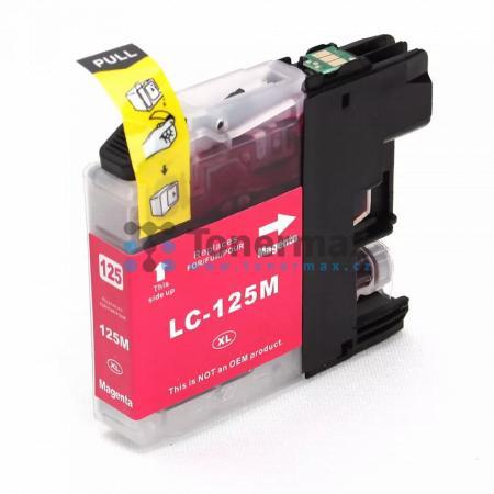 Brother LC125XL-M (LC125XL), kompatibilní cartridge pro tiskárny Brother DCP-J4110DW, MFC-J4410DW, MFC-J4510DW, MFC-J4610DW, MFC-J4710DW, MFC-J6520DW, MFC-J6720DW, MFC-J6920DW