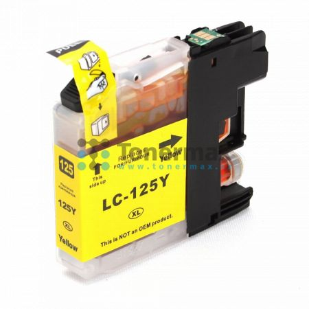 Brother LC125XL-Y (LC125XL), kompatibilní cartridge pro tiskárny Brother DCP-J4110DW, MFC-J4410DW, MFC-J4510DW, MFC-J4610DW, MFC-J4710DW, MFC-J6520DW, MFC-J6720DW, MFC-J6920DW