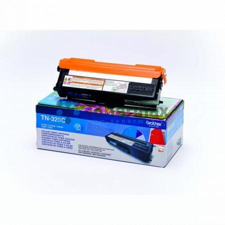 Brother TN-320C, TN320C, originální toner pro tiskárny Brother DCP-9055CDN, DCP-9270CDN, HL-4140CN, HL-4150CDN, HL-4570CDW, HL-4570CDWT, MFC-9460CDN, MFC-9465CDN, MFC-9970CDW