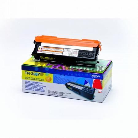 Brother TN-328Y, TN328Y, originální toner pro tiskárny Brother DCP-9270CDN, HL-4570CDW, HL-4570CDWT, MFC-9970CDW