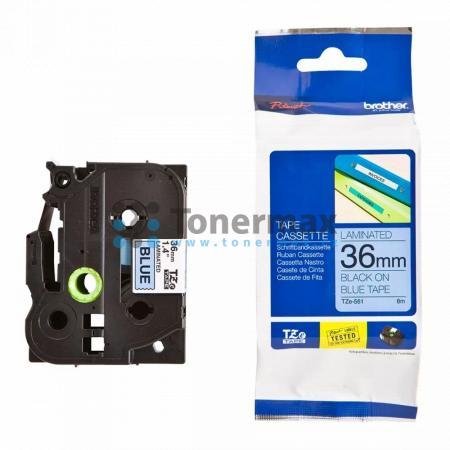 Brother TZe-561, 36 mm, laminovaná modrá páska / černý tisk originální pro tiskárny Brother P-touch 550, PT-550, P-touch 3600, PT-3600, P-touch 9200DX, PT-9200DX, P-touch 9200PC, PT-9200PC, P-touch 9400, PT-9400, P-touch 9500PC, PT-9500PC, P-touch 9600, P