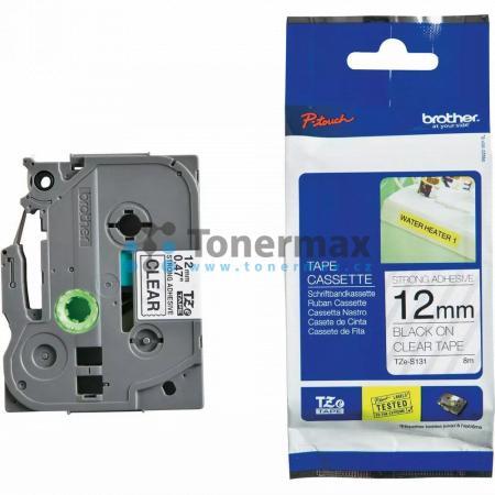 Brother TZe-S131, 12 mm, extrémně adhezivní laminovaná průhledná páska / černý tisk originální pro tiskárny Brother P-touch 18R, PT-18R, P-touch 550, PT-550, P-touch 900, PT-900, P-touch 1000, PT-1000, P-touch 1010, PT-1010, P-touch 1080, PT-1080, P-touch