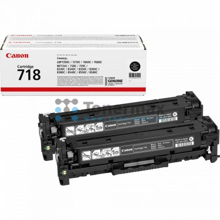 Canon 718, CRG-718, 2662B005, dvojbalení, originální toner pro tiskárny Canon i-SENSYS LBP7200Cdn, i-SENSYS LBP-7200Cdn, LBP-7200Cdn, LBP7200Cdn, i-SENSYS LBP7210Cdn, i-SENSYS LBP-7210Cdn, LBP-7210Cdn, LBP7210Cdn, i-SENSYS LBP7660Cdn, i-SENSYS LBP-7660Cdn
