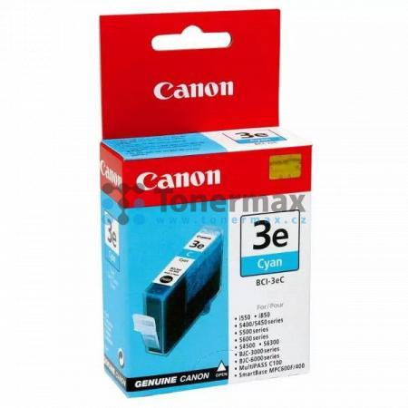 Canon BCI-3eC, 4480A002, originální cartridge pro tiskárny Canon BJC-3000, BJC-6000, BJC-6100, BJC-6200, BJC-6200s, BJC-6500, MultiPASS C100, S400, S450, S500, S520, S530, S600, S630, S750, S4500, S6300, SmartBase MP700, SmartBase MP700 Photo, SmartBase M