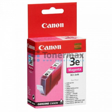 Canon BCI-3eM, 4481A002, originální cartridge pro tiskárny Canon BJC-3000, BJC-6000, BJC-6100, BJC-6200, BJC-6200s, BJC-6500, MultiPASS C100, S400, S450, S500, S520, S530, S600, S630, S750, S4500, S6300, SmartBase MP700, SmartBase MP700 Photo, SmartBase M