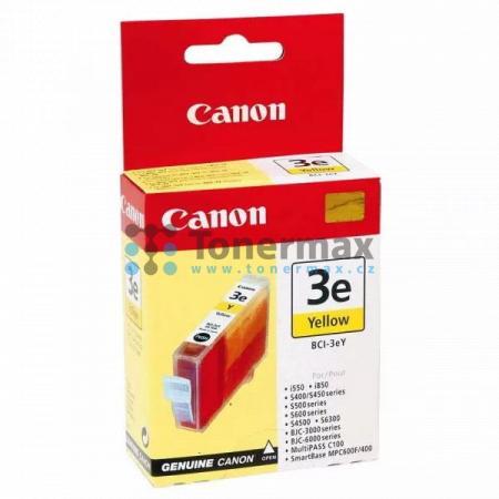 Canon BCI-3eY, 4482A002, originální cartridge pro tiskárny Canon BJC-3000, BJC-6000, BJC-6100, BJC-6200, BJC-6200s, BJC-6500, MultiPASS C100, S400, S450, S500, S520, S530, S600, S630, S750, S4500, S6300, SmartBase MP700, SmartBase MP700 Photo, SmartBase M