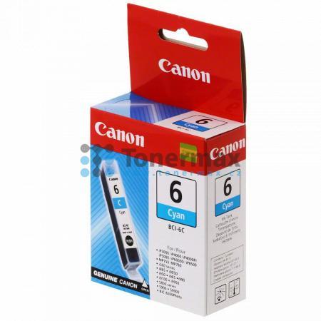 Canon BCI-6C, 4706A002, originální cartridge pro tiskárny Canon BJC-8200, BJC-8200 Photo, PIXMA MP750, PIXMA MP760, PIXMA MP780, PIXMA iP3000, PIXMA iP4000, PIXMA iP4000R, PIXMA iP5000, PIXMA iP6000D, PIXMA iP8500, S800, S820, S820D, S830, S830D, S900, S9