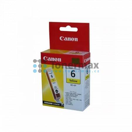 Canon BCI-6Y, 4708A002, originální cartridge pro tiskárny Canon BJC-8200, BJC-8200 Photo, PIXMA MP750, PIXMA MP760, PIXMA MP780, PIXMA iP3000, PIXMA iP4000, PIXMA iP4000R, PIXMA iP5000, PIXMA iP6000D, PIXMA iP8500, S800, S820, S820D, S830, S830D, S900, S9