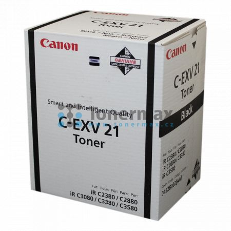 Canon C-EXV21, 0452B002, poškozený obal, originální toner pro tiskárny Canon iRC2380i, iR-C2380i, iRC2880, iR-C2880, iRC2880i, iR-C2880i, iRC3080, iR-C3080, iRC3080i, iR-C3080i, iRC3380, iR-C3380, iRC3380i, iR-C3380i, iRC3580, iR-C3580, iRC3580Ne, iR-C358