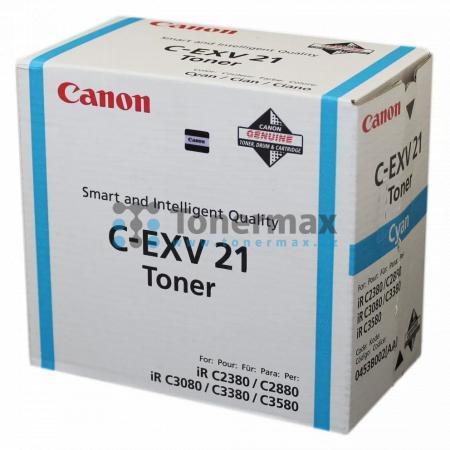 Canon C-EXV21, 0453B002, poškozený obal, originální toner pro tiskárny Canon iRC2380i, iR-C2380i, iRC2880, iR-C2880, iRC2880i, iR-C2880i, iRC3080, iR-C3080, iRC3080i, iR-C3080i, iRC3380, iR-C3380, iRC3380i, iR-C3380i, iRC3580, iR-C3580, iRC3580Ne, iR-C358