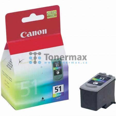 Canon CL-51, 0618B001, originální cartridge pro tiskárny Canon PIXMA MP150, PIXMA MP160, PIXMA MP170, PIXMA MP180, PIXMA MP450, PIXMA MP450x, PIXMA MP460, PIXMA MX300, PIXMA MX310, PIXMA iP2200, PIXMA iP6210D, PIXMA iP6220D