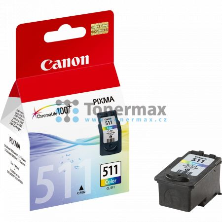 Canon CL-511, 2972B001, originální cartridge pro tiskárny Canon PIXMA MP230, PIXMA MP235, PIXMA MP240, PIXMA MP250, PIXMA MP252, PIXMA MP260, PIXMA MP270, PIXMA MP272, PIXMA MP280, PIXMA MP282, PIXMA MP480, PIXMA MP490, PIXMA MP492, PIXMA MP495, PIXMA MP4