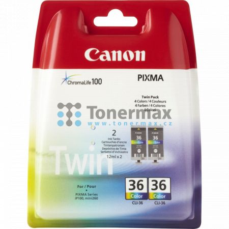 Canon CLI-36, 1511B018, Twin-Pack, originální cartridge pro tiskárny Canon PIXMA iP100, PIXMA iP110, PIXMA mini260, PIXMA mini320