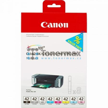 Canon CLI-42 BK/GY/LGY/C/M/Y/PC/PM, 6384B010, multipack, originální cartridge pro tiskárny Canon PIXMA PRO-100, PIXMA PRO-100S