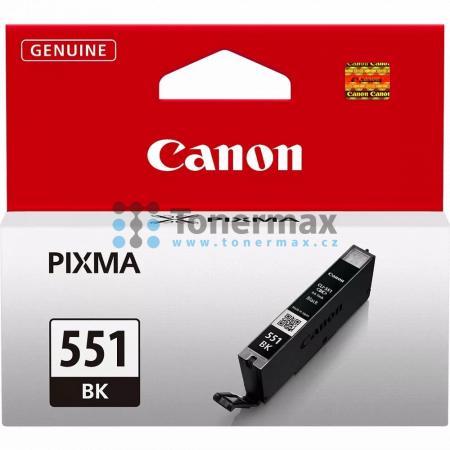 Canon CLI-551 Bk, CLI-551Bk, 6508B001, originální cartridge pro tiskárny Canon PIXMA MG5450, PIXMA MG5550, PIXMA MG5650, PIXMA MG5655, PIXMA MG6350, PIXMA MG6450, PIXMA MG6650, PIXMA MG7150, PIXMA MG7550, PIXMA MX725, PIXMA MX925, PIXMA iP7250, PIXMA iP87