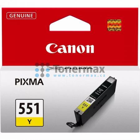 Canon CLI-551 Y, CLI-551Y, 6511B001, originální cartridge pro tiskárny Canon PIXMA MG5450, PIXMA MG5550, PIXMA MG5650, PIXMA MG5655, PIXMA MG6350, PIXMA MG6450, PIXMA MG6650, PIXMA MG7150, PIXMA MG7550, PIXMA MX725, PIXMA MX925, PIXMA iP7250, PIXMA iP8750