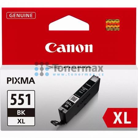 Canon CLI-551XL Bk, 6443B001, originální cartridge pro tiskárny Canon PIXMA MG5450, PIXMA MG5550, PIXMA MG5650, PIXMA MG5655, PIXMA MG6350, PIXMA MG6450, PIXMA MG6650, PIXMA MG7150, PIXMA MG7550, PIXMA MX725, PIXMA MX925, PIXMA iP7250, PIXMA iP8750, PIXMA