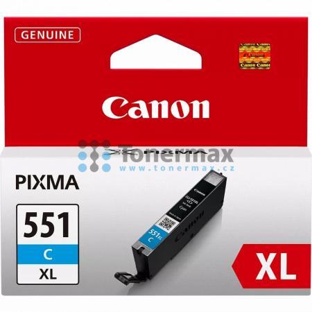 Canon CLI-551XL C, 6444B001, originální cartridge pro tiskárny Canon PIXMA MG5450, PIXMA MG5550, PIXMA MG5650, PIXMA MG5655, PIXMA MG6350, PIXMA MG6450, PIXMA MG6650, PIXMA MG7150, PIXMA MG7550, PIXMA MX725, PIXMA MX925, PIXMA iP7250, PIXMA iP8750, PIXMA