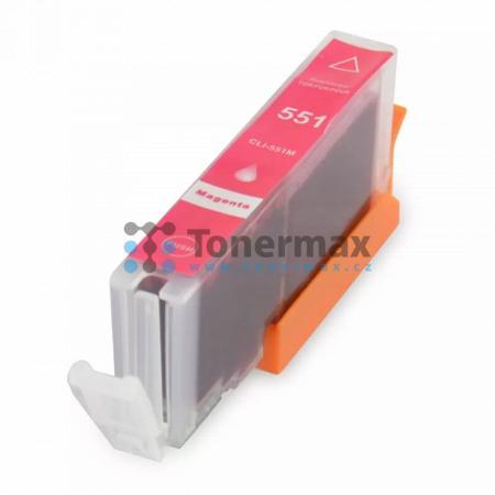 Canon CLI-551XL M, kompatibilní cartridge pro tiskárny Canon PIXMA MG5450, PIXMA MG5550, PIXMA MG5650, PIXMA MG5655, PIXMA MG6350, PIXMA MG6450, PIXMA MG6650, PIXMA MG7150, PIXMA MG7550, PIXMA MX725, PIXMA MX925, PIXMA iP7250, PIXMA iP8750, PIXMA iX6850