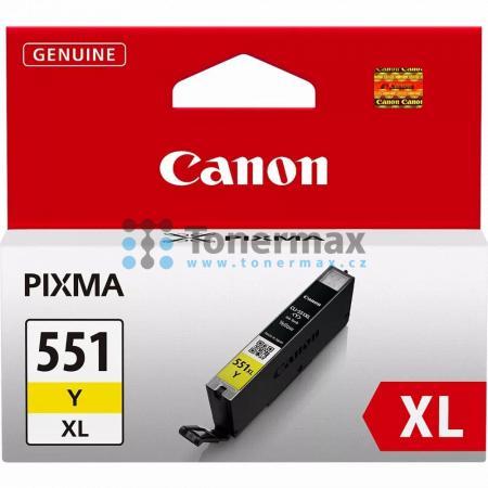 Canon CLI-551XL Y, 6446B001, originální cartridge pro tiskárny Canon PIXMA MG5450, PIXMA MG5550, PIXMA MG5650, PIXMA MG5655, PIXMA MG6350, PIXMA MG6450, PIXMA MG6650, PIXMA MG7150, PIXMA MG7550, PIXMA MX725, PIXMA MX925, PIXMA iP7250, PIXMA iP8750, PIXMA