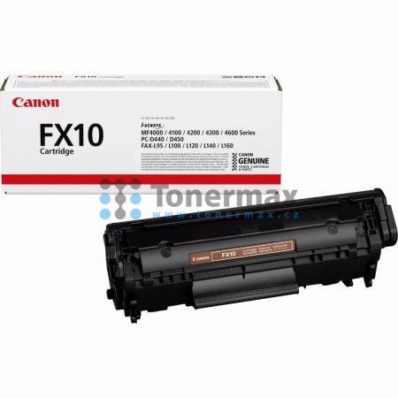 Canon FX10, 0263B002, originální toner pro tiskárny Canon Fax-L95, Fax-L100, Fax-L120, Fax-L140, Fax-L160, PC-D440, PC-D450, i-SENSYS MF4010, MF4010, i-SENSYS MF4018, MF4018, i-SENSYS MF4120, MF4120, i-SENSYS MF4140, MF4140, i-SENSYS MF4150, MF4150, i-SEN