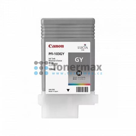 Canon PFI-103GY, 2213B001, originální cartridge pro tiskárny Canon iPF5100, iPF6100, iPF6200