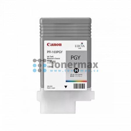 Canon PFI-103PGY, 2214B001, originální cartridge pro tiskárny Canon iPF5100, iPF6100, iPF6200