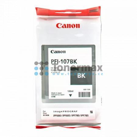 Canon PFI-107BK, 6705B001, originální cartridge pro tiskárny Canon iPF670, imagePROGRAF iPF670, iPF680, imagePROGRAF iPF680, iPF-680, iPF685, imagePROGRAF iPF685, iPF-685, iPF770, imagePROGRAF iPF770, iPF780, imagePROGRAF iPF780, iPF-780, iPF785, imagePRO