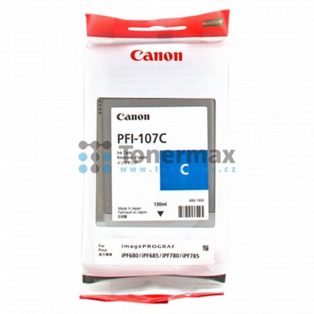 Canon PFI-107C, 6706B001, originální cartridge pro tiskárny Canon iPF670, imagePROGRAF iPF670, iPF680, imagePROGRAF iPF680, iPF-680, iPF685, imagePROGRAF iPF685, iPF-685, iPF770, imagePROGRAF iPF770, iPF780, imagePROGRAF iPF780, iPF-780, iPF785, imagePROG