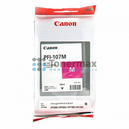 Canon PFI-107M, 6707B001, originální cartridge pro tiskárny Canon iPF670, imagePROGRAF iPF670, iPF680, imagePROGRAF iPF680, iPF-680, iPF685, imagePROGRAF iPF685, iPF-685, iPF770, imagePROGRAF iPF770, iPF780, imagePROGRAF iPF780, iPF-780, iPF785, imagePROG