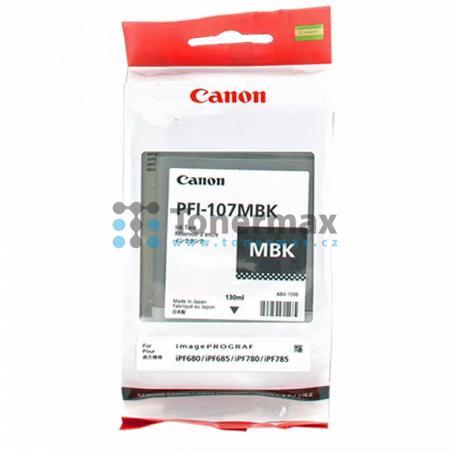 Canon PFI-107MBK, 6704B001, originální cartridge pro tiskárny Canon iPF670, imagePROGRAF iPF670, iPF680, imagePROGRAF iPF680, iPF-680, iPF685, imagePROGRAF iPF685, iPF-685, iPF770, imagePROGRAF iPF770, iPF780, imagePROGRAF iPF780, iPF-780, iPF785, imagePR