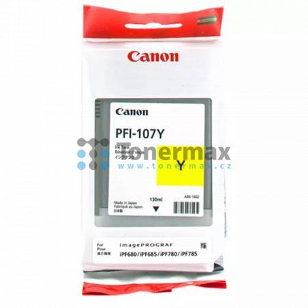 Canon PFI-107Y, 6708B001, originální cartridge pro tiskárny Canon iPF670, imagePROGRAF iPF670, iPF680, imagePROGRAF iPF680, iPF-680, iPF685, imagePROGRAF iPF685, iPF-685, iPF770, imagePROGRAF iPF770, iPF780, imagePROGRAF iPF780, iPF-780, iPF785, imagePROG