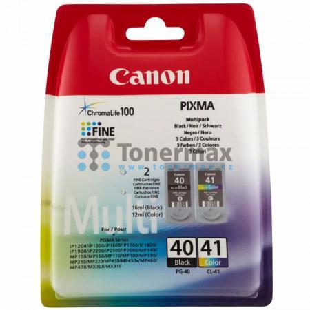 Canon PG-40 + CL-41 Multi-Pack, 0615B043, originální cartridge pro tiskárny Canon PIXMA MP140, PIXMA MP150, PIXMA MP160, PIXMA MP170, PIXMA MP180, PIXMA MP190, PIXMA MP210, PIXMA MP220, PIXMA MP450, PIXMA MP450x, PIXMA MP460, PIXMA MP470, PIXMA MX300, PIX
