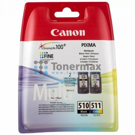 Canon PG-510 + CL-511, 2970B010, Multi-Pack, originální cartridge pro tiskárny Canon PIXMA MP230, PIXMA MP235, PIXMA MP240, PIXMA MP250, PIXMA MP252, PIXMA MP260, PIXMA MP270, PIXMA MP272, PIXMA MP280, PIXMA MP282, PIXMA MP480, PIXMA MP490, PIXMA MP492, P