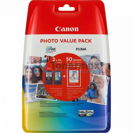 Canon PG-540XL + CL-541XL + 50 x Photo Paper GP-501, 5222B013