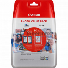 Canon PG-545XL + CL-546XL + 50 x Photo Paper GP-501, 8286B006
