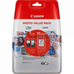 Canon PG-560XL + CL-561XL + 50 x Photo Paper GP-501, 3712C004