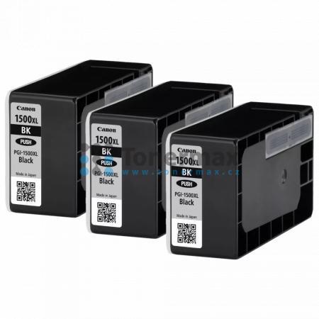 Canon PGI-1500XL BK, 9182B009, 3ks, originální cartridge pro tiskárny Canon MAXIFY MB2050, MAXIFY MB2150, MAXIFY MB2155, MAXIFY MB2350, MAXIFY MB2750, MAXIFY MB2755