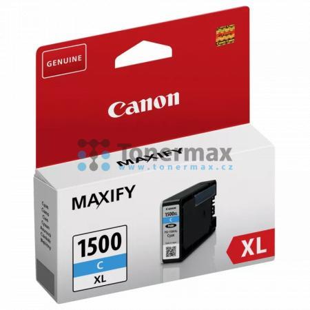 Canon PGI-1500XL C, 9193B001, originální cartridge pro tiskárny Canon MAXIFY MB2050, MAXIFY MB2150, MAXIFY MB2155, MAXIFY MB2350, MAXIFY MB2750, MAXIFY MB2755