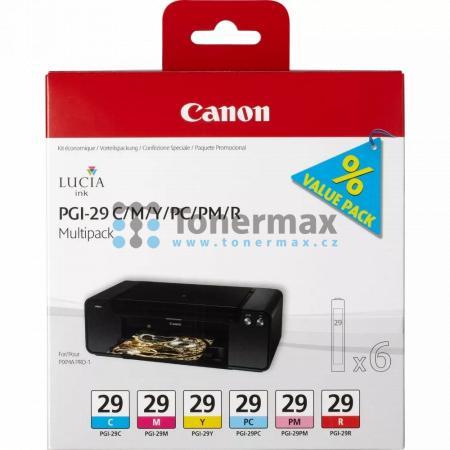 Canon PGI-29 C/M/Y/PC/PM/R, 4873B005, multipack, originální cartridge pro tiskárny Canon PIXMA PRO-1